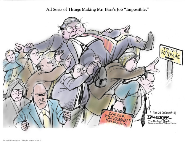 Jeff Danziger  Jeff Danziger's Editorial Cartoons 2020-02-26 Presidency