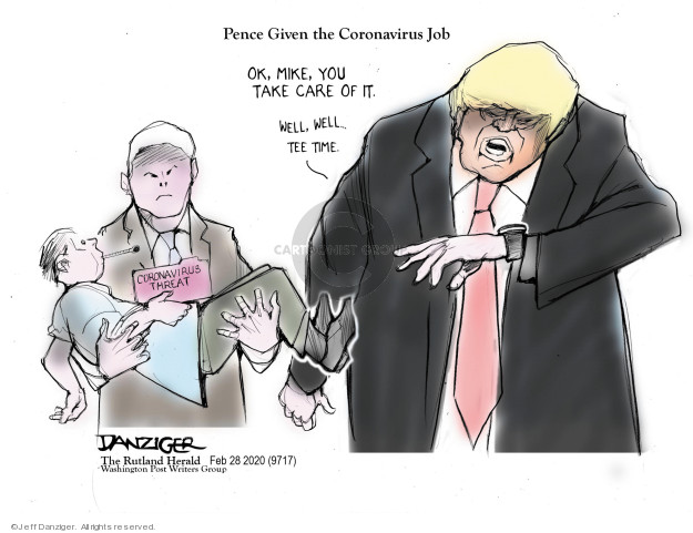 Cartoonist Jeff Danziger  Jeff Danziger's Editorial Cartoons 2020-02-29 time