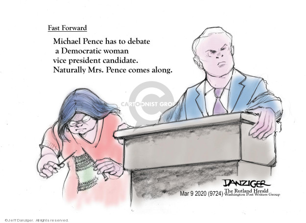 Cartoonist Jeff Danziger  Jeff Danziger's Editorial Cartoons 2020-03-09 presidential candidate