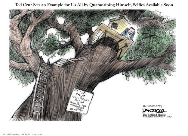 Cartoonist Jeff Danziger  Jeff Danziger's Editorial Cartoons 2020-03-10 brave