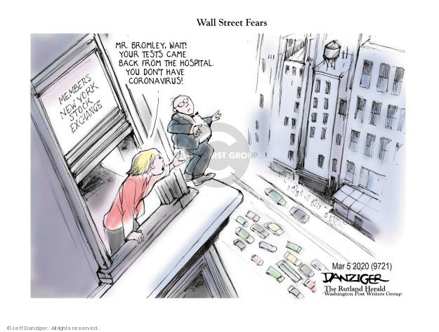 Cartoonist Jeff Danziger  Jeff Danziger's Editorial Cartoons 2020-03-07 hospital