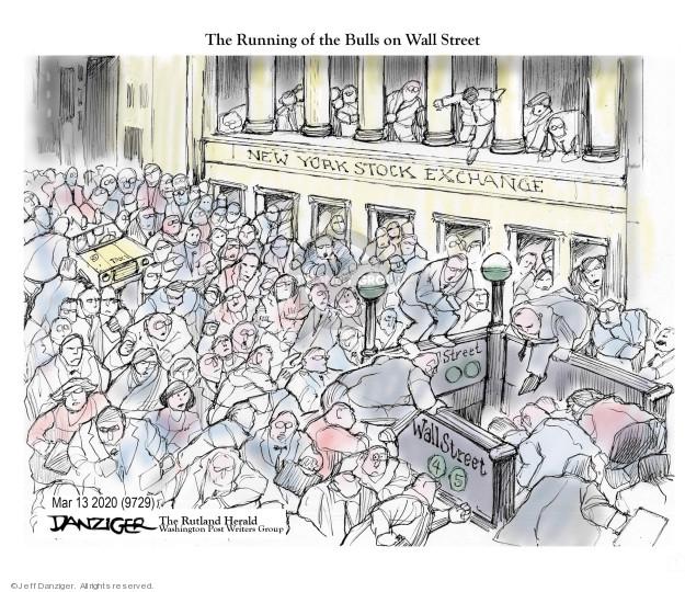 Cartoonist Jeff Danziger  Jeff Danziger's Editorial Cartoons 2020-03-15 coronavirus