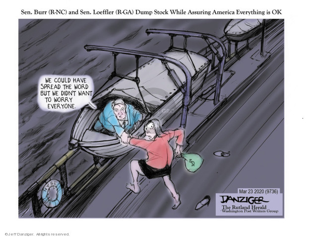 Cartoonist Jeff Danziger  Jeff Danziger's Editorial Cartoons 2020-03-23 senator