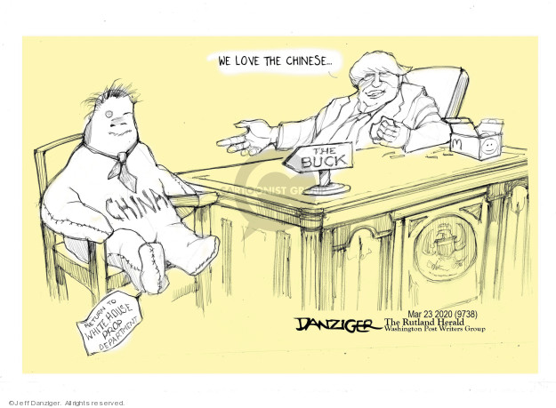 Jeff Danziger  Jeff Danziger's Editorial Cartoons 2020-03-24 Presidency