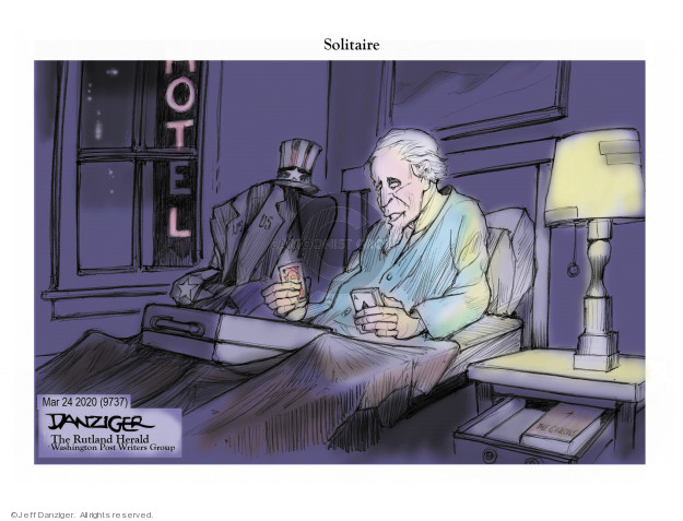 Jeff Danziger  Jeff Danziger's Editorial Cartoons 2020-03-25 social isolation