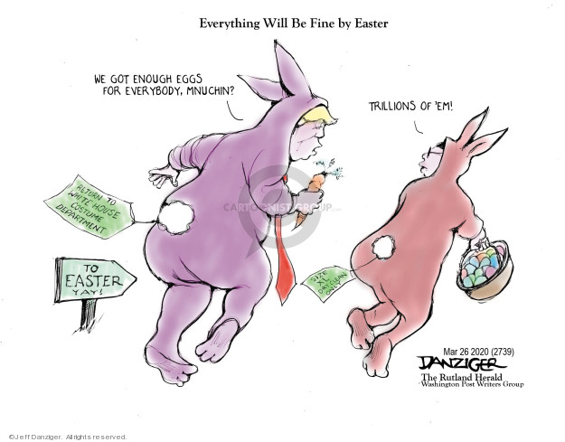 Cartoonist Jeff Danziger  Jeff Danziger's Editorial Cartoons 2020-03-26 federal debt