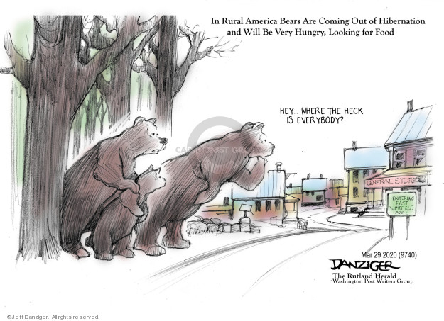 Cartoonist Jeff Danziger  Jeff Danziger's Editorial Cartoons 2020-03-29 America
