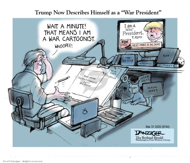 Jeff Danziger  Jeff Danziger's Editorial Cartoons 2020-04-03 Presidency
