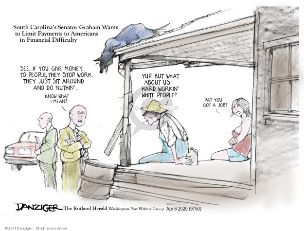 Cartoonist Jeff Danziger  Jeff Danziger's Editorial Cartoons 2020-04-09 senator