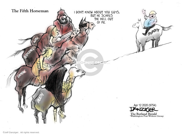 Cartoonist Jeff Danziger  Jeff Danziger's Editorial Cartoons 2020-04-14 leadership