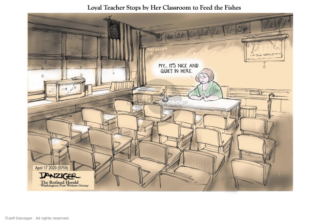 Jeff Danziger  Jeff Danziger's Editorial Cartoons 2020-04-19 social isolation