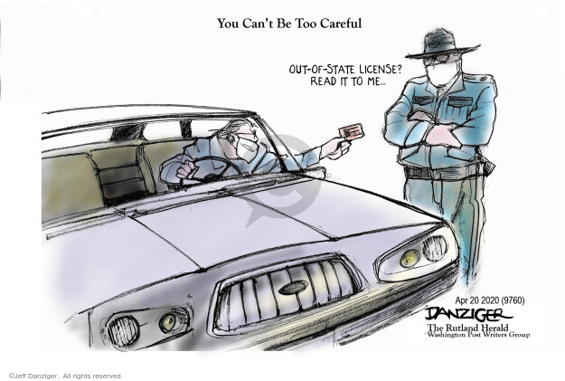 Cartoonist Jeff Danziger  Jeff Danziger's Editorial Cartoons 2020-04-20 crisis