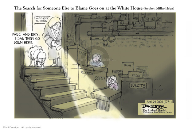 Cartoonist Jeff Danziger  Jeff Danziger's Editorial Cartoons 2020-04-21 leadership