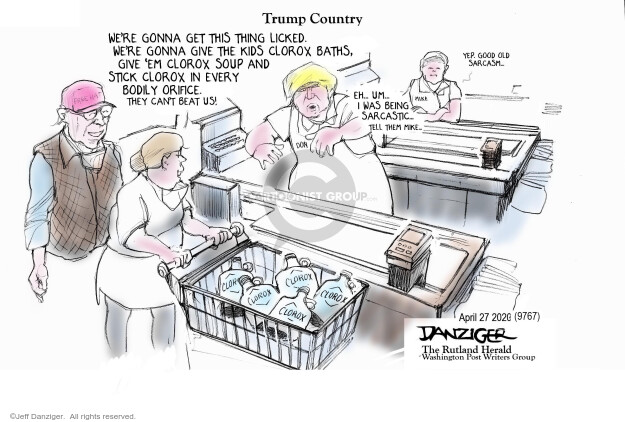 Cartoonist Jeff Danziger  Jeff Danziger's Editorial Cartoons 2020-04-28 crisis