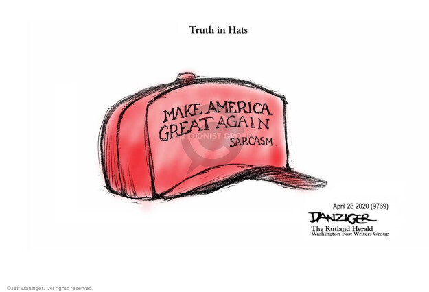 Cartoonist Jeff Danziger  Jeff Danziger's Editorial Cartoons 2020-04-29 leadership