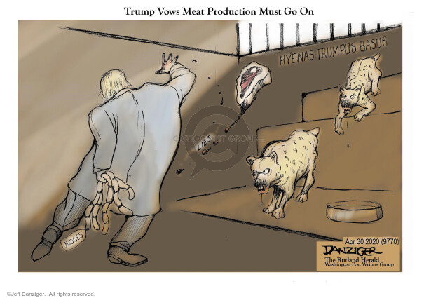 Cartoonist Jeff Danziger  Jeff Danziger's Editorial Cartoons 2020-05-01 leadership