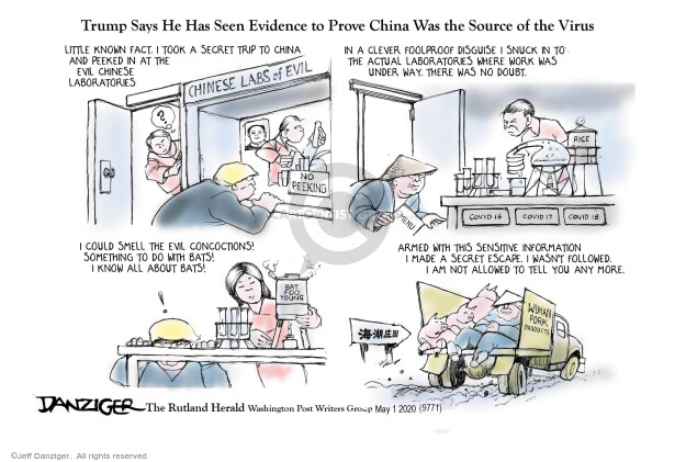 Cartoonist Jeff Danziger  Jeff Danziger's Editorial Cartoons 2020-05-04 fact