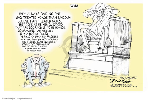 Jeff Danziger  Jeff Danziger's Editorial Cartoons 2020-05-05 press