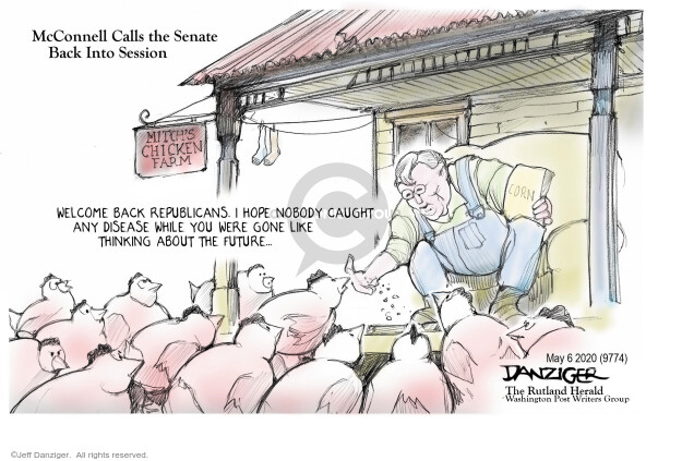 Cartoonist Jeff Danziger  Jeff Danziger's Editorial Cartoons 2020-05-06 crisis