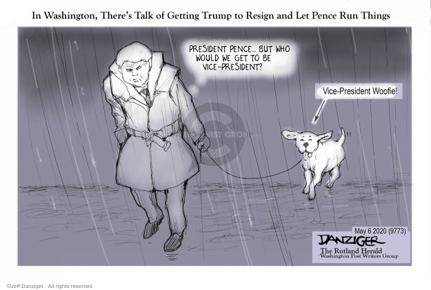 Cartoonist Jeff Danziger  Jeff Danziger's Editorial Cartoons 2020-05-07 leadership