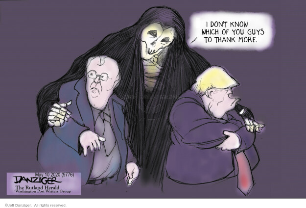 Cartoonist Jeff Danziger  Jeff Danziger's Editorial Cartoons 2020-05-10 virus