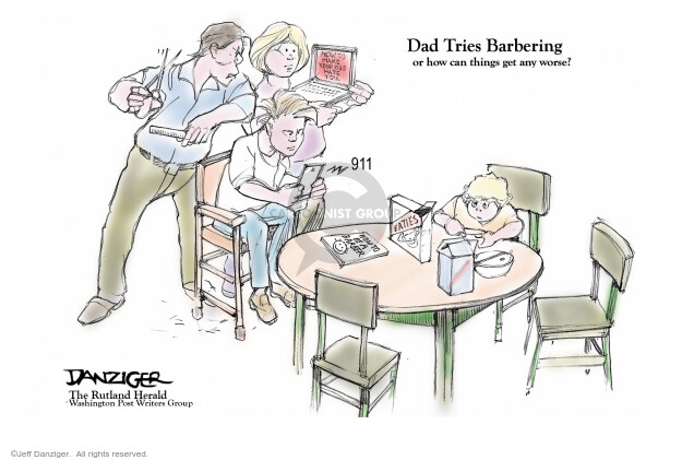 Cartoonist Jeff Danziger  Jeff Danziger's Editorial Cartoons 2020-05-16 social distancing