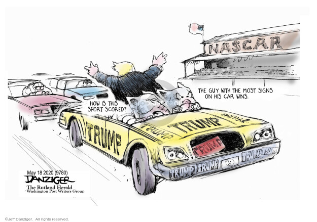 Cartoonist Jeff Danziger  Jeff Danziger's Editorial Cartoons 2020-05-18 car