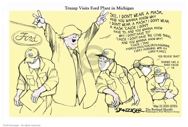 Cartoonist Jeff Danziger  Jeff Danziger's Editorial Cartoons 2020-05-23 leadership