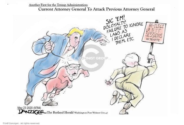 Cartoonist Jeff Danziger  Jeff Danziger's Editorial Cartoons 2020-05-24 presidential candidate