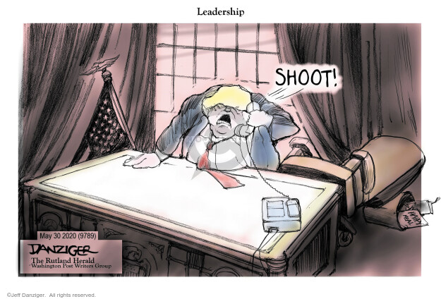 Cartoonist Jeff Danziger  Jeff Danziger's Editorial Cartoons 2020-06-01 leadership
