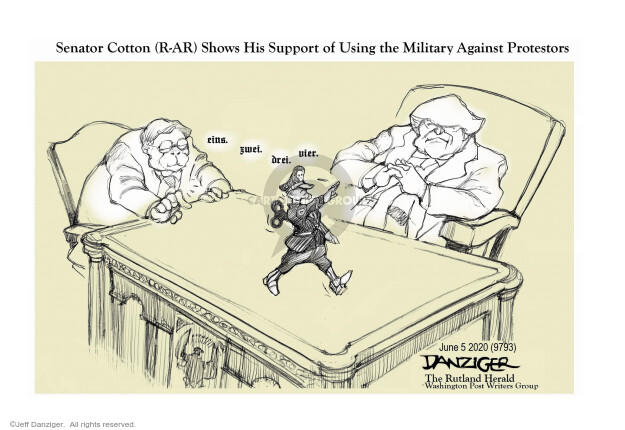 Cartoonist Jeff Danziger  Jeff Danziger's Editorial Cartoons 2020-06-05 race