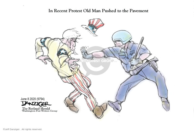 Cartoonist Jeff Danziger  Jeff Danziger's Editorial Cartoons 2020-06-08 race