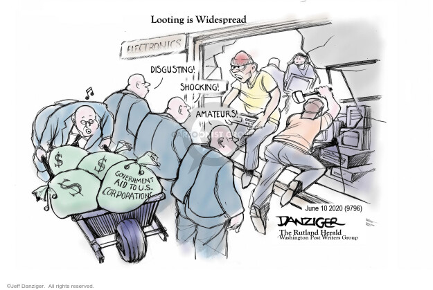 Jeff Danziger  Jeff Danziger's Editorial Cartoons 2020-06-10 editorial