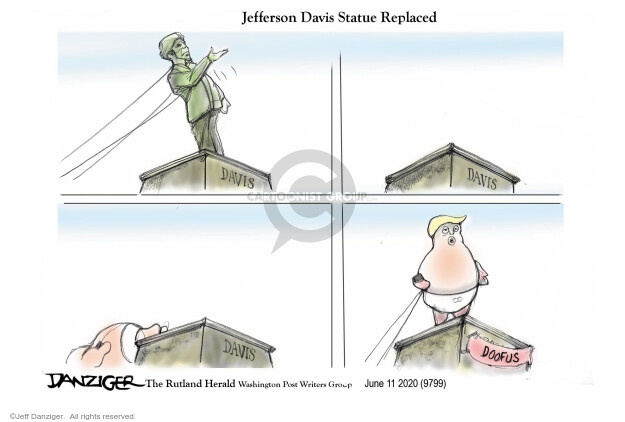 Cartoonist Jeff Danziger  Jeff Danziger's Editorial Cartoons 2020-06-12 race