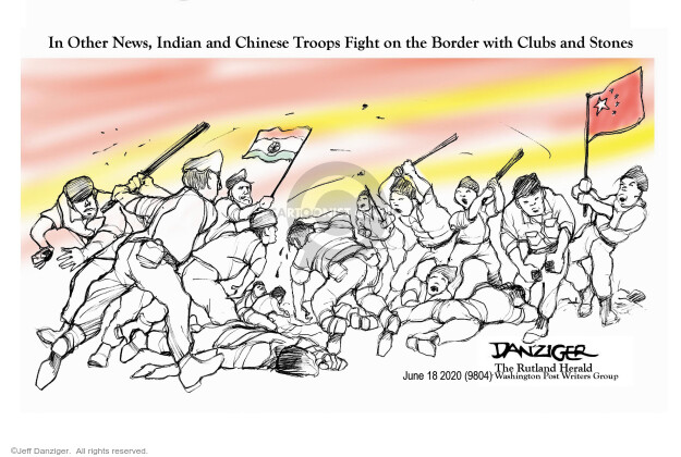 Cartoonist Jeff Danziger  Jeff Danziger's Editorial Cartoons 2020-06-18 conflict