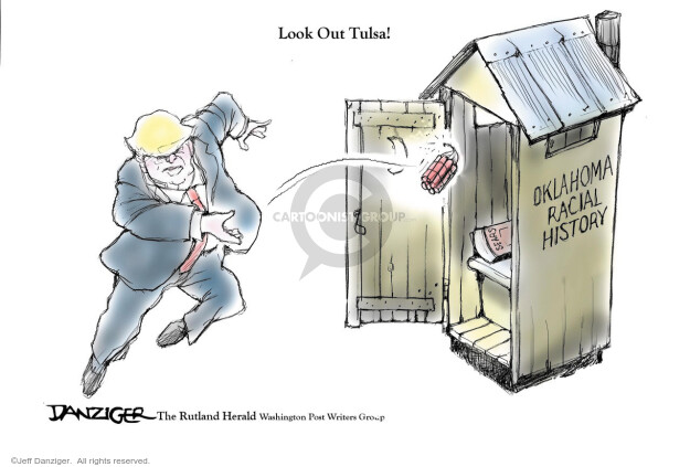 Cartoonist Jeff Danziger  Jeff Danziger's Editorial Cartoons 2020-06-20 rally