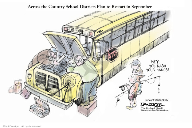 Cartoonist Jeff Danziger  Jeff Danziger's Editorial Cartoons 2020-06-23 crisis