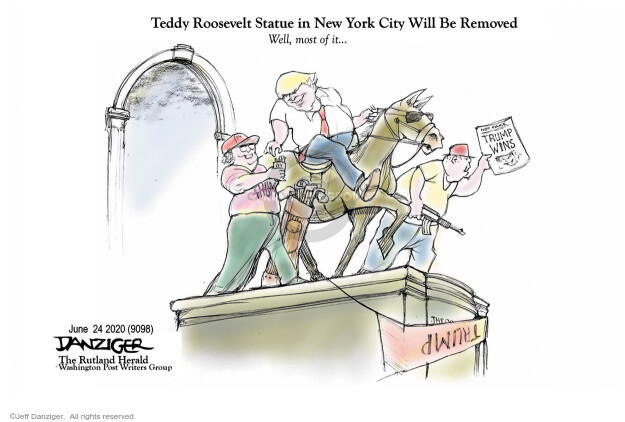 Cartoonist Jeff Danziger  Jeff Danziger's Editorial Cartoons 2020-06-24 race