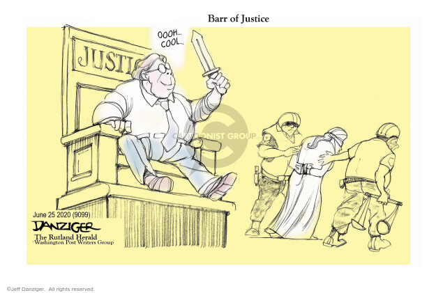 Jeff Danziger  Jeff Danziger's Editorial Cartoons 2020-06-25 Trump administration