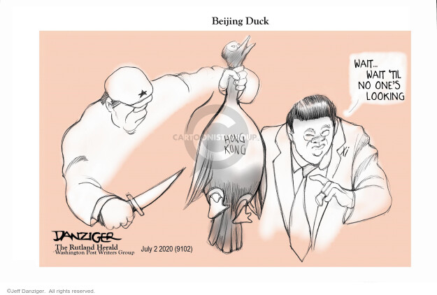 Cartoonist Jeff Danziger  Jeff Danziger's Editorial Cartoons 2020-07-02 national