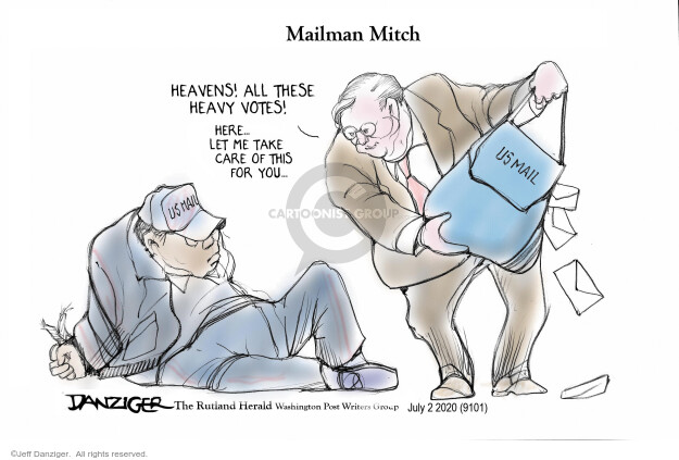 Jeff Danziger  Jeff Danziger's Editorial Cartoons 2020-07-03 senate majority leader