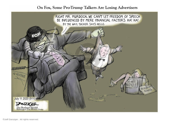 Jeff Danziger  Jeff Danziger's Editorial Cartoons 2020-07-11 not