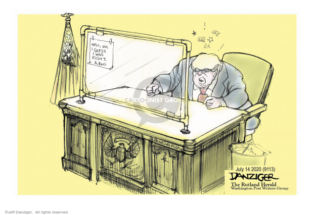 Jeff Danziger  Jeff Danziger's Editorial Cartoons 2020-07-15 Trump administration