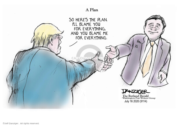 Jeff Danziger  Jeff Danziger's Editorial Cartoons 2020-07-16 Donald Trump