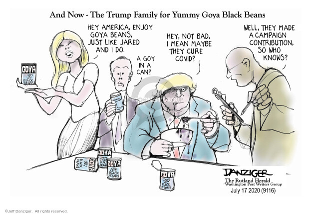 Jeff Danziger  Jeff Danziger's Editorial Cartoons 2020-07-18 Jared Kushner