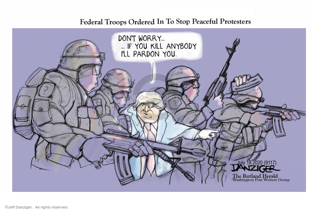 Jeff Danziger  Jeff Danziger's Editorial Cartoons 2020-07-20 Donald Trump