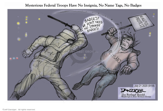 Jeff Danziger  Jeff Danziger's Editorial Cartoons 2020-07-21 Donald Trump