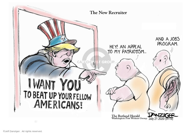 Jeff Danziger  Jeff Danziger's Editorial Cartoons 2020-07-22 employment work