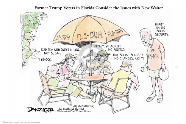 Jeff Danziger  Jeff Danziger's Editorial Cartoons 2020-07-28 former