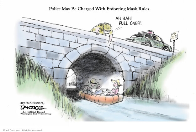 Jeff Danziger  Jeff Danziger's Editorial Cartoons 2020-07-29 public health